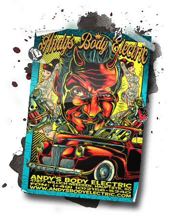 Andy`s Body Electric Poster Art